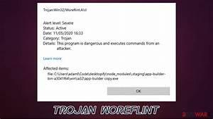 Remove Trojan Woreflint  Virus Removal Instructions