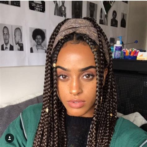 box braid styles ideas  pinterest box braids