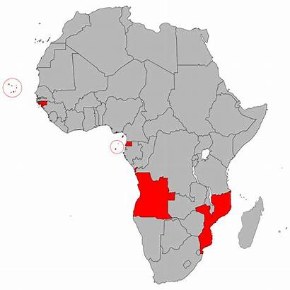 Portuguese Africa Countries African Speaking Svg Palop