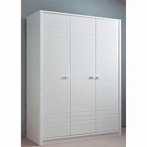 Armoire A Etagere : armoire design 3 portes avec penderie et tag res en bois asoral ~ Teatrodelosmanantiales.com Idées de Décoration
