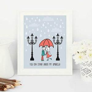 Shop couple umbrella on wanelo for What kind of paint to use on kitchen cabinets for street art wall decals