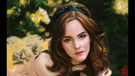 Emma Watson Speed Painting Youtube