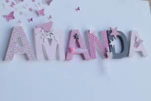 lettre pour chambre de bebe lettres prenom poetiques amanda sur le modele amanda