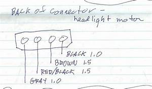 Headlight Motor Wiring Connections