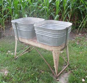 Everready, Galvanized, Double, Wash, Tub, Beer, Cooler, Flower, Pot