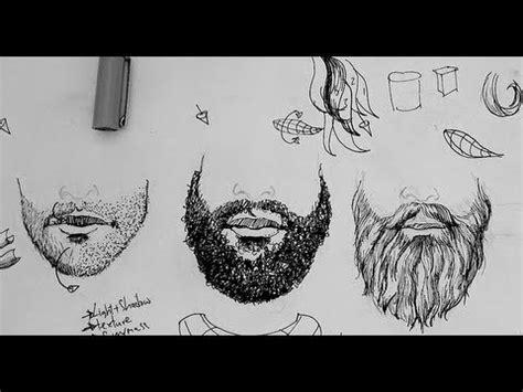 ink drawing tutorials   draw beards