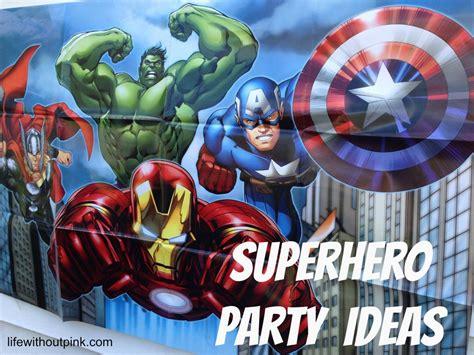 superhero birthday party ideas   printables