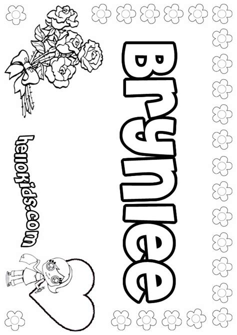 Coloring Names by Brynlee Coloring Pages Hellokids