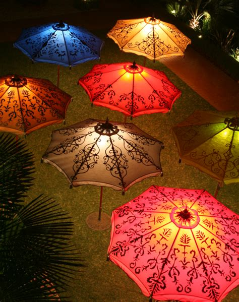 parasols for some light and shade in the garden