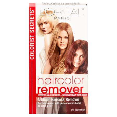 loreal hair color remover l oreal colorist secrets haircolor remover walmart