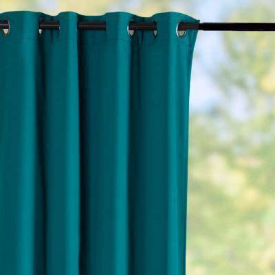 sunbrella 174 outdoor curtain panel teal