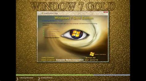 tutorial instalar windows 7 edici 243 n oro 32 y 64 bits install windows 7 gold edition 32 64