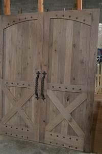 Hand Made Rustic Barn Style Doors by Corey Morgan Wood