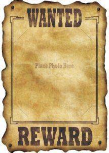 affiche wanted anniversaire western fete  boy