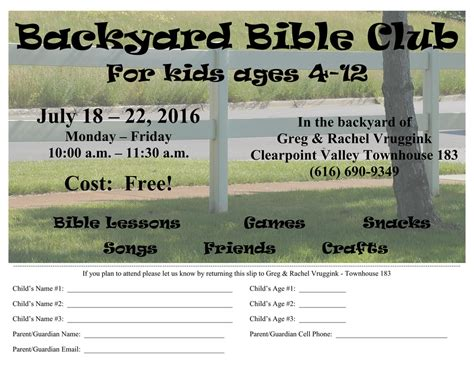 Backyard Bible Club Curriculum by Backyard Bible Club Free Curriculum The Vrugginks In Asia