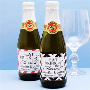 eat drink and be married sparkling cider modern wedding With eat drink and be married wedding favors