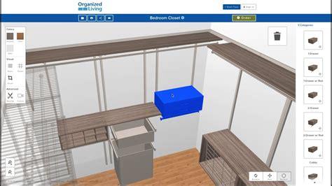 closet design tool organizedlivingcom youtube