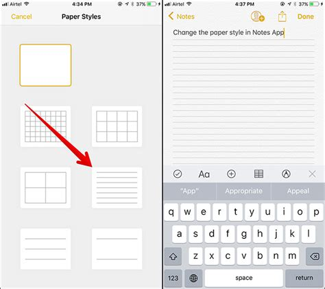 iphone notes app how to change paper style in ios 11 notes app on iphone
