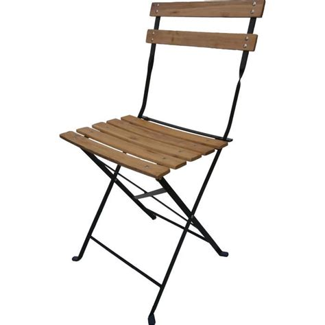 chaise pliante en bois 4 chaises pliantes bistro bois achat vente fauteuil