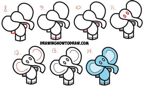 draw cartoon elephant   dollar sign easy