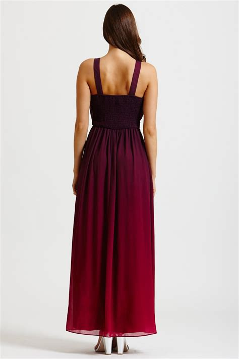 mistress  tone pink  purple embellished maxi