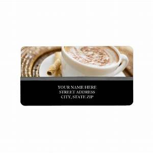 coffee cup address labels zazzle With coffee cup labels