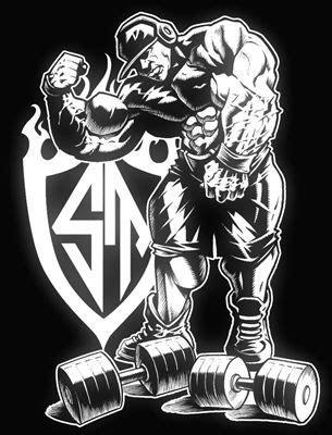 #bodybuildingart | Desenhos de academia, Logotipo de