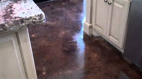 acid stained  decorative concrete overlay replaces