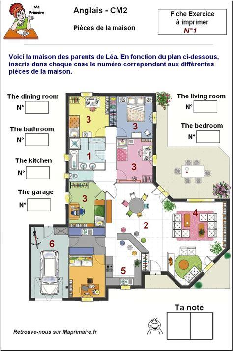 de la maison en anglais pieces de la maison en anglais au cm2