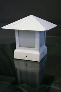 Led Light Images 3 5 Inch 12v White Fence Post Cap Light Yardbright