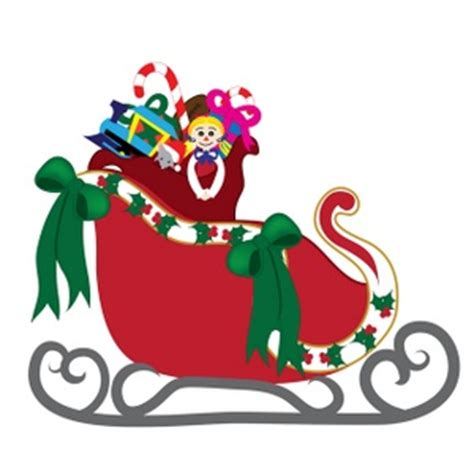 Santa Sleigh Clipart Pictures Of Sleighs Clipart Best