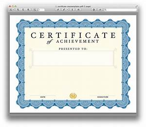 Certificate Template For Pages And Pdf