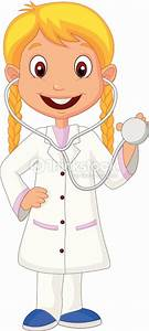 Kleines Mu00e4dchen Comic Mit Krankenschwester Kostu00fcm Vektorgrafik   Thinkstock