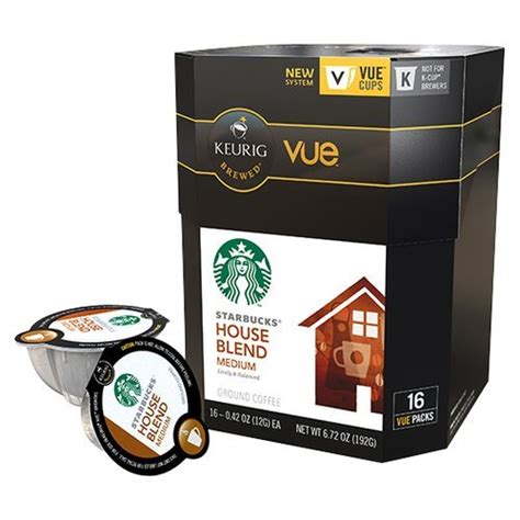 Cold brew beverage you enjoy in our stores. Starbucks House Blend Coffee Keurig Vue Portion Pack, 32 Count