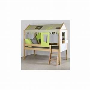 Lit Enfant Mi Haut : lit mi haut casa vert gris bambins d co ~ Premium-room.com Idées de Décoration