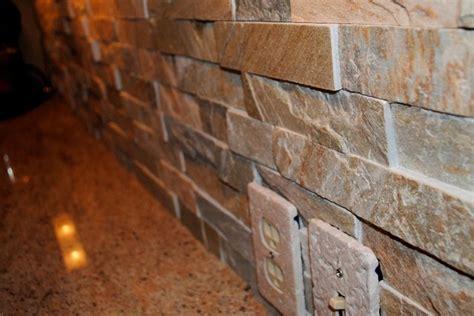 granite stacked stacked stone tile backsplash and millennium cream granite