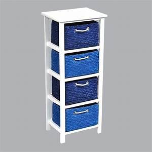 Meuble A Panier : meuble panier bleu meuble d co eminza ~ Teatrodelosmanantiales.com Idées de Décoration
