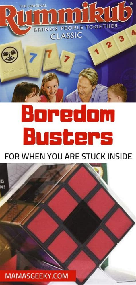 Must Have Boredom Busters For While You Are Stuck Inside