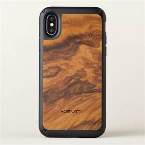 Cool Modern Brown Faux Wood Speck iPhone X Case