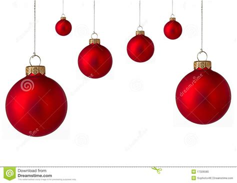 stock photo several red christmas baubles image 17326580
