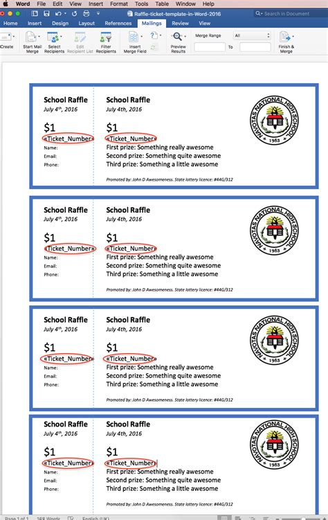 numbered raffle ticket template raffle ticket creator