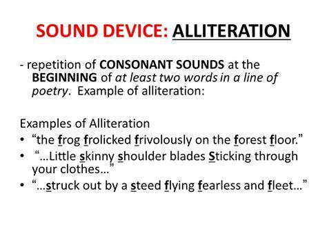 alliteration poetic device examples