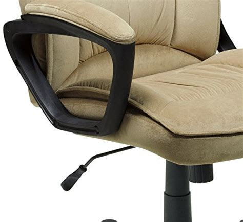 serta executive office chair microfiber light beige new