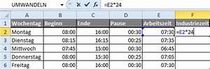Uhrzeit Berechnen Excel : zeiteinheiten umrechnen in excel ~ Themetempest.com Abrechnung