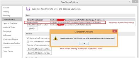 office  onenote  backup feature problem