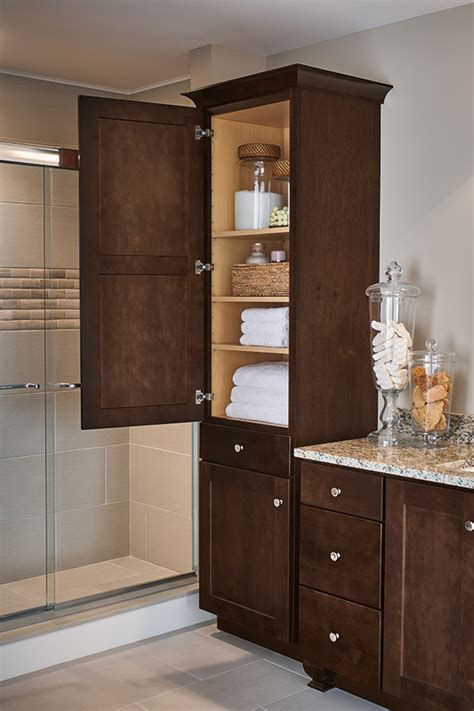 wood cabinets in a transitional bathroom aristokraft