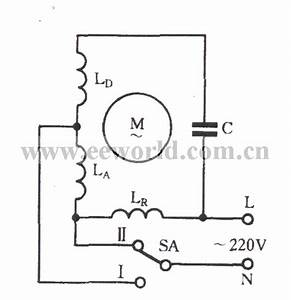 Single-phase Motor Winding Tap L-2 Connection Two-speed Circuit - Basic Circuit