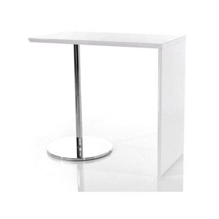 table de bar tomy blanc laqu 233 achat vente mange debout table de bar tomy blanc laqu 233 les