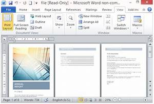 Free Annual Report Template For Word With Cover Photo