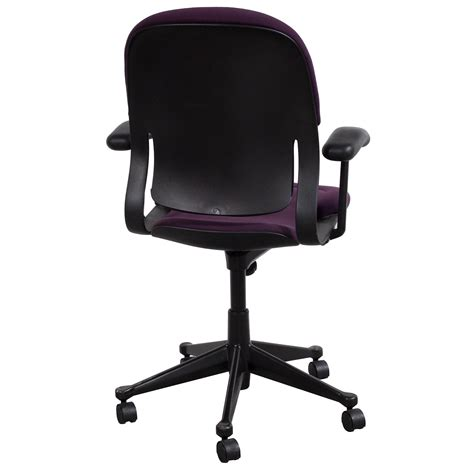herman miller equa high back used conference chair purple
